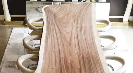 Unfinished Sapele Wood Slab